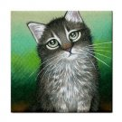 Ceramic Tile Coaster from art painting Cat 408