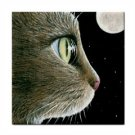 Ceramic Tile Coaster from art painting Cat 413