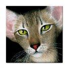 Ceramic Tile Coaster from art painting Cat 427 Oriental