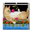 Ceramic Tile Coaster from art painting Cat 451