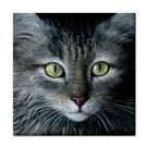 Ceramic Tile Coaster from art painting Cat 478