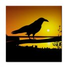 Ceramic Tile Coaster Design 6 crow raven