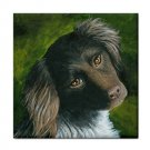 Ceramic Tile Coaster from art painting Dog 43
