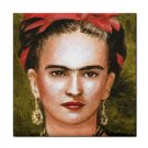 Ceramic Tile Coaster from art painting Frida Kahlo 3