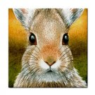 Ceramic Tile Coaster from art painting Hare 18 Rabbit