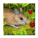 Ceramic Tile Coaster from art painting Mouse 15