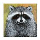 Ceramic Tile Coaster from art painting Raccoon 15