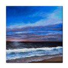 Ceramic Tile Coaster from art painting Sea View 139