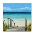 Ceramic Tile Coaster from art painting Sea View 147