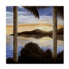 Ceramic Tile Coaster from art painting Sea View 166