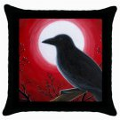 Throw Pillow Case from art painting Bird 62 Crow Raven