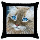 Throw Pillow Case from art painting Cat 390