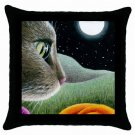Throw Pillow Case from art painting Cat 403
