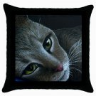 Throw Pillow Case from art painting Cat 420