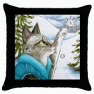 Throw Pillow Case from art painting Cat 452 Snow Flake