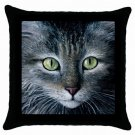 Throw Pillow Case from art painting Cat 478