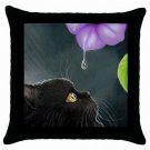 Throw Pillow Case from art painting Cat 514 Flower