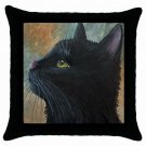 Throw Pillow Case from art painting Cat 545