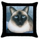 Throw Pillow Case from art painting Cat 547 Siamese