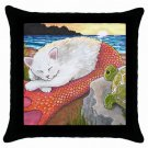 Throw Pillow Case from art painting Cat Mermaid 26 Turtle