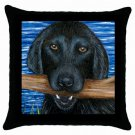 Throw Pillow Case from art painting Dog 41 Labrador