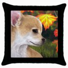Throw Pillow Case from art painting Dog 84 Chihuahua Fall Autumn