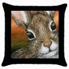 Throw Pillow Case from art painting Hare 15 Rabbit