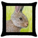 Throw Pillow Case from art painting Hare 28 Rabbit
