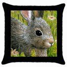 Throw Pillow Case from art painting Hare 45 Rabbit