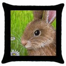 Throw Pillow Case from art painting Hare 57 Rabbit