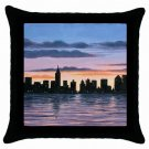 Throw Pillow Case from art painting Landscape 147 City