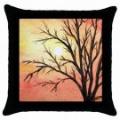 Throw Pillow Case from art painting Landscape 289 Sunset
