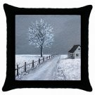 Throw Pillow Case from art painting Landscape 307 Winter