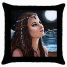 Throw Pillow Case from art painting Mermaid 63 Dolphin