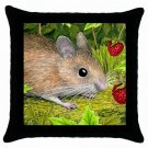 Throw Pillow Case from art painting Mouse 15