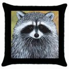 Throw Pillow Case from art painting Raccoon 15