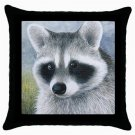 Throw Pillow Case from art painting Raccoon 20