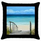 Throw Pillow Case from art painting Sea View 147