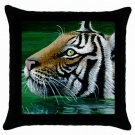Throw Pillow Case from art painting Tiger in Water