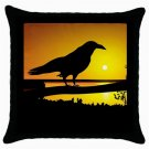 Throw Pillow Case from image Design 6 Crow Raven Sunset