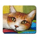 Mousepad Mat pad from art painting Cat 251