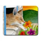 Mousepad Mat pad from art painting Cat 401 Flower