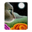 Mousepad Mat pad from art painting Cat 403 Flower