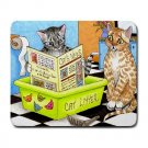 Mousepad Mat pad from art painting Cat 464 Cat in Litter Funny