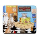 Mousepad Mat pad from art painting Cat 522 Cat in Litter Funny