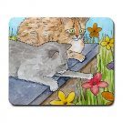 Mousepad Mat pad from art painting Cat 523 Flower