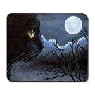 Mousepad Mat pad from art painting Cat 534 Black Cat