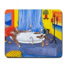 Mousepad Mat pad from art painting Cat 537 in Bath Funny