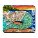 Mousepad Mat pad from art painting Cat Mermaid 23