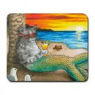 Mousepad Mat pad from art painting Cat Mermaid 25
